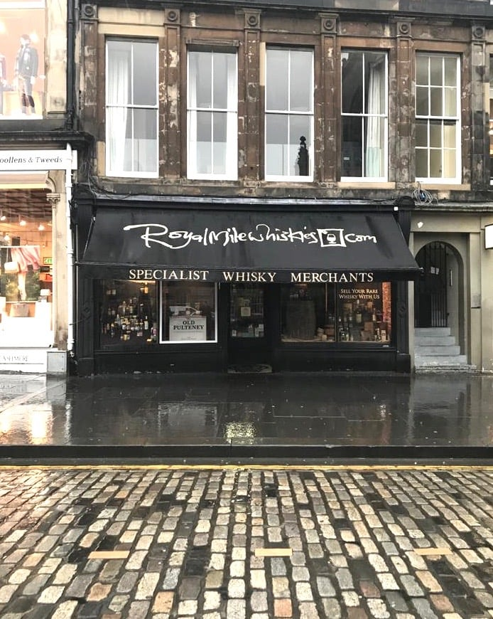Dormant's flagship Royal Mile Whiskies store