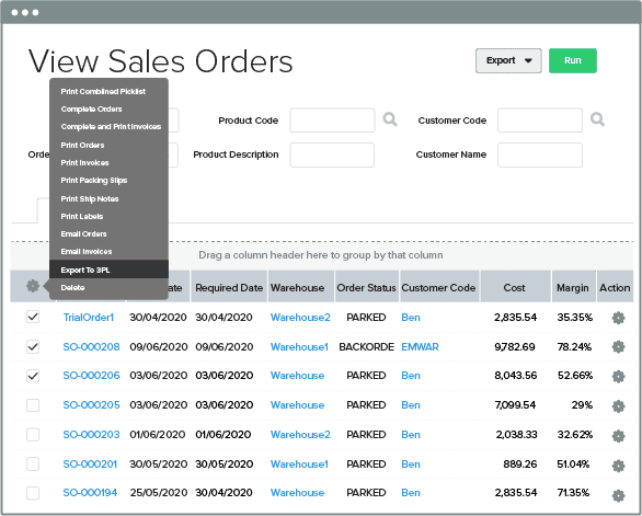 Unleashed-Software-Enhancements-Bulk-print-3PL-templates-from-Data-Exporter