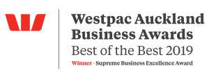 Westpac Auckland Business Awards - BEST OF THE BEST 2019 - Winner - Supreme Business Excellence Award