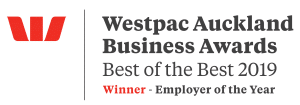 Westpac Auckland Business Awards - BEST OF THE BEST 2019 - Winner - Employer of the Year