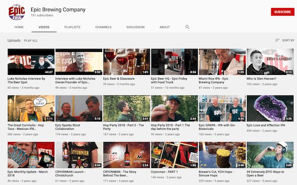 epic brewery youtube