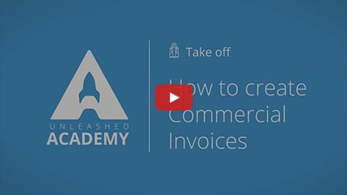 create commercial invocies for brexit
