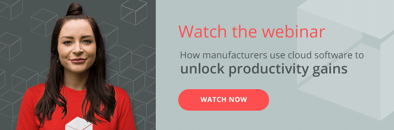 Watch the webinar How manufacturers use cloud software to unlock productivity gains. Watch now