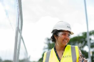 Woman in a high vis vest