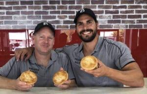 Pinjarra staff holding pies